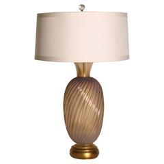 Gold & Opaline Murano Lamp, c. 1950