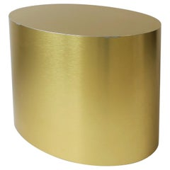 Gold Oval Side or Cocktail Table