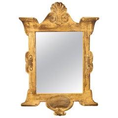 Gold Painted Trompe L'oeil Mirror