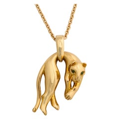 Gold Panther Pendant