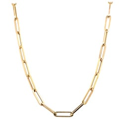 Gold Paperclip Link Necklace