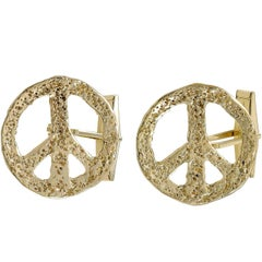 Gold Peace Cufflinks