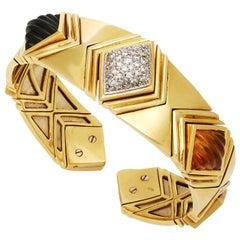 Gold Peridot Citrine Bracelet