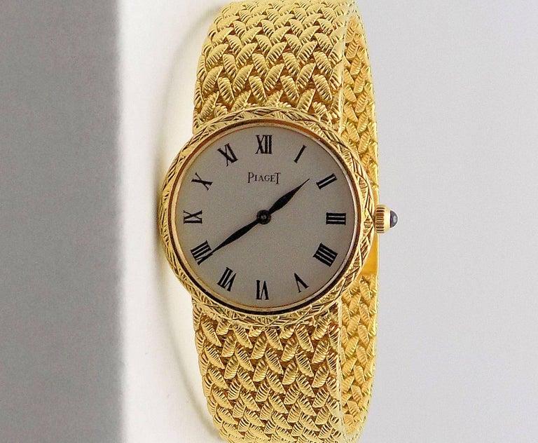 Women's Gold Piaget Wrist Watch For Sale