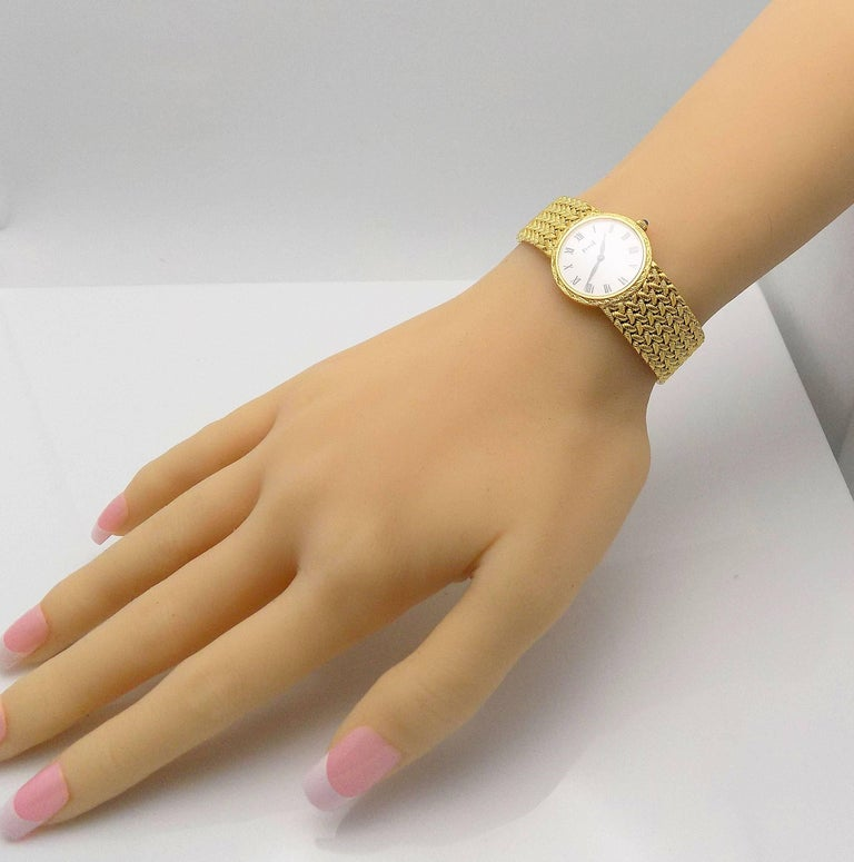 Gold Piaget Wrist Watch For Sale 1
