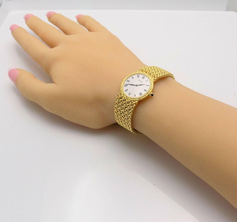 Gold Piaget Wrist Watch For Sale 2
