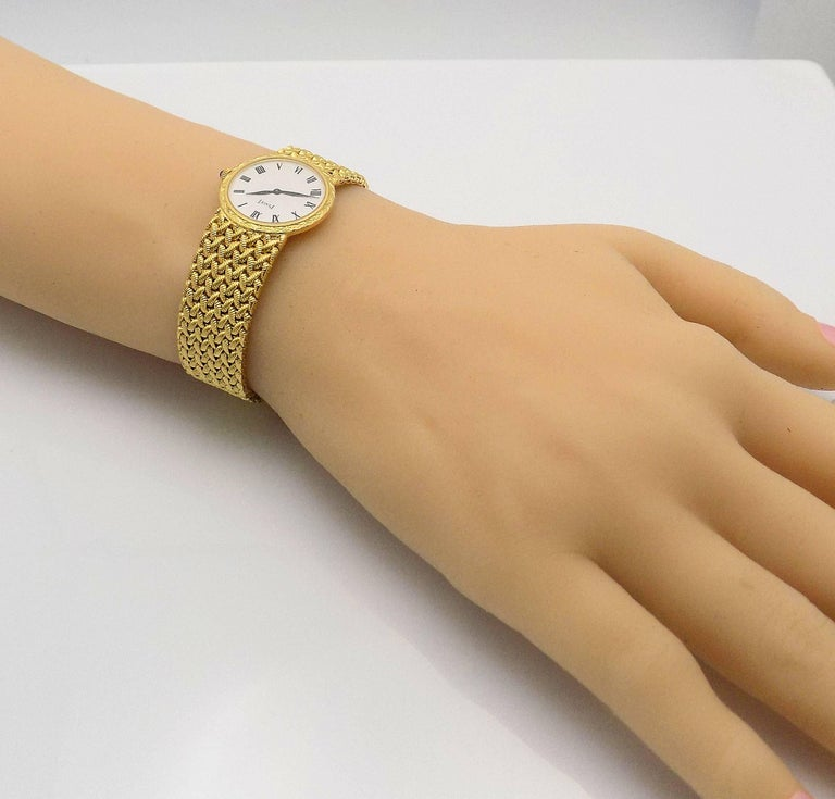 Gold Piaget Wrist Watch For Sale 3