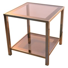Gold-Plated 23-Carat Modern Regency Coffee, Cocktail or Side Table, 3 Available