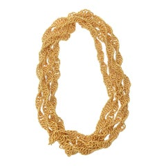 Gold Plated Chain Wrap Necklace Vintage