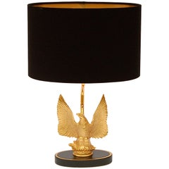 Gold-Plated Eagle Table Lamp, 1970s, Belgium