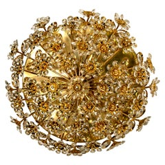 Gold-Plated Flower Wall Light/ Flush Mount by Palwa