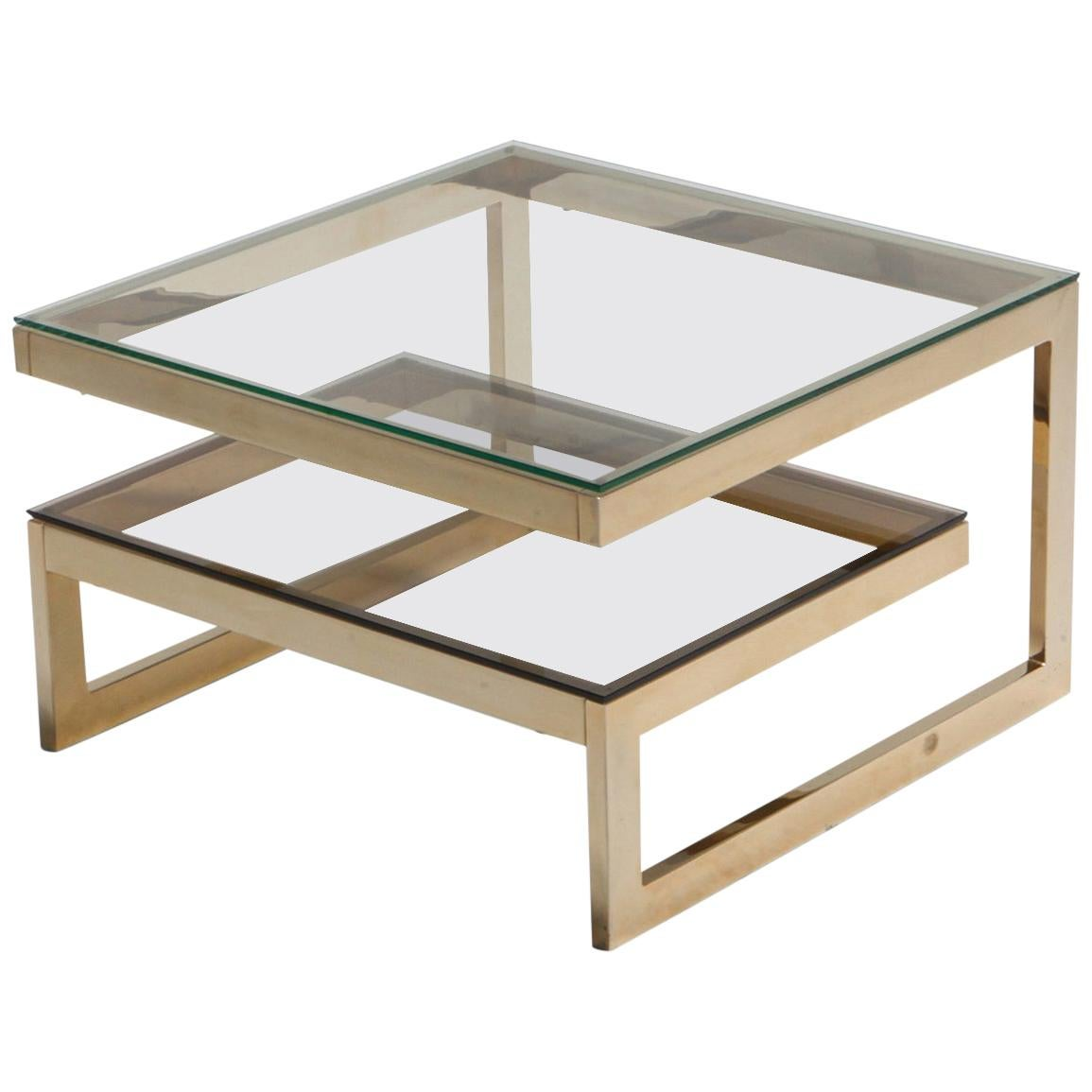 Gold-Plated 'G' Shaped Occasional Table
