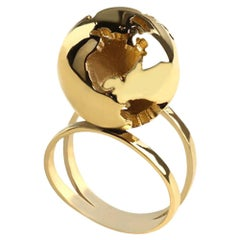 Gold plated Globe Ring