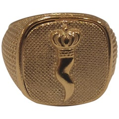 Gold plated good luck amulet ring