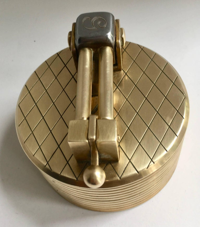 Gold-Plated Gubelin Lighter In Good Condition In Los Angeles, CA