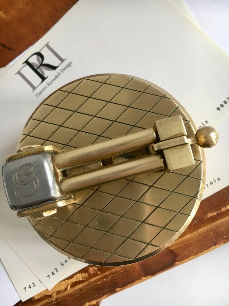 Metal Gold-Plated Gubelin Lighter