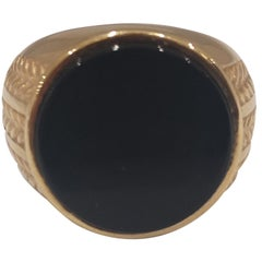 Gold plated onyx ring