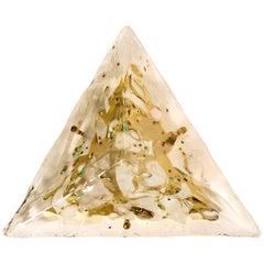 Gold-Plated Piramide Murano La Murrani Flushmount /Wall Light, 1970s, Italy