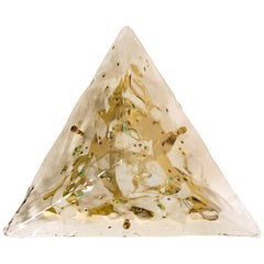 Gold-Plated Piramide Venini Flush Mounts, 1970s, Italy