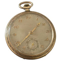 Gold-Plated Record Watch Co. Geneve Antique Pocket Watch