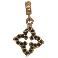 Gold plated star zirconia charm