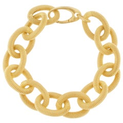 Gold-Plated Sterling Silver Link Chain Bracelet