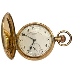 Antique Gold-Plated Full Hunter Pocket Watch signed John Forest, London