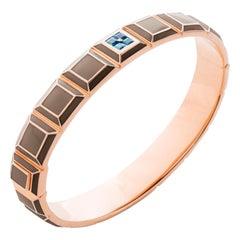 Gold-Plated Taupe Enamel Topaz Carousel Bracelet