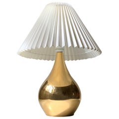 Gold Plated Tear Drop Table Lamp by Hugo Asmussen, 1960s