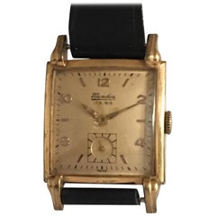 Gold-Plated Vintage 1940s Bulova Watch Co. Wristwatch