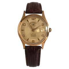 Gold-Plated Vintage 1940s Rotary Automatic Military Watch