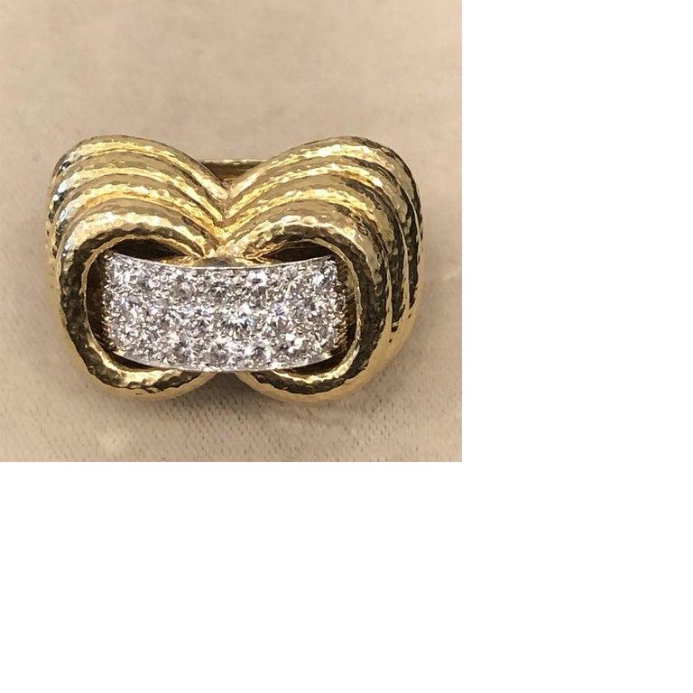 Women's Gold, Platinum and Diamond Ring by David Webb