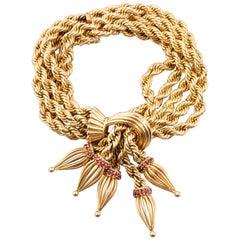 Gold Pompon Bracelet by Marchak Paris