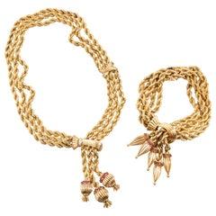 Gold Pompon Set by Marchak Paris