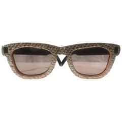 Gold python stamp sunglasses