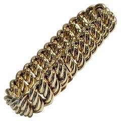 Gold Quadruple Curb Link Bracelet