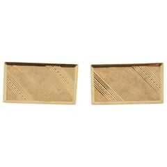 14K Yellow Gold Rectangular Cufflinks