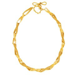 Valentin Magro Gold Ribbon Link Necklace