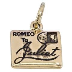 Gold Romeo & Juliet Charm
