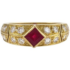 Gold, Ruby and Diamond Ring by Van Cleef & Arpels