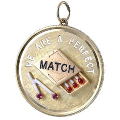 Gold, Ruby and Enamel Perfect Match Charm