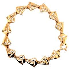 Gold Sailboat Link Bracelet