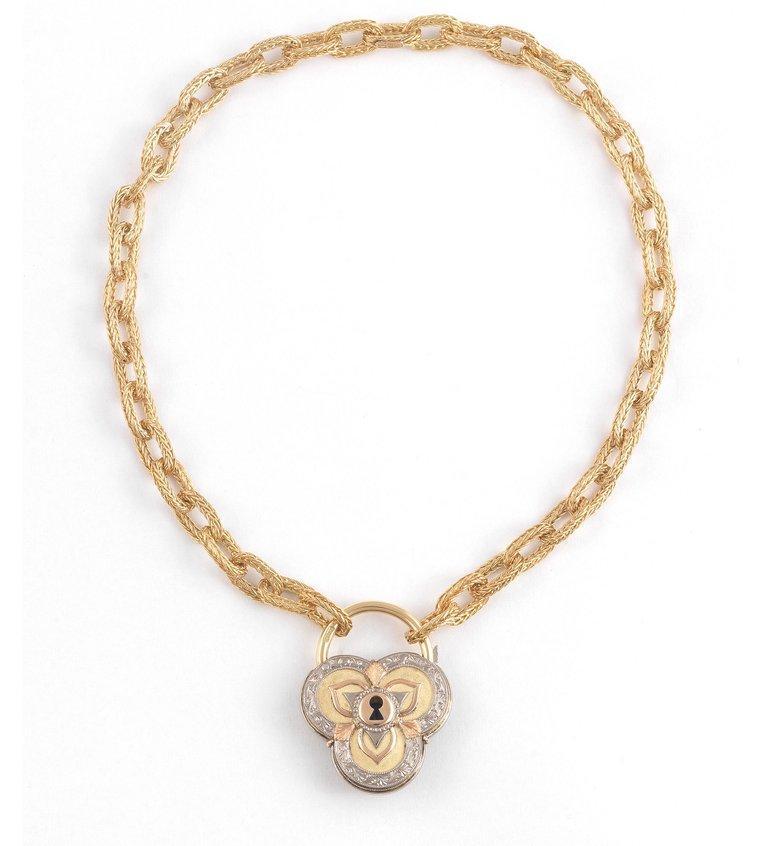 Contemporary Gold Sapphire and Diamond Pendant Cazzaniga Roma of Heart Design For Sale