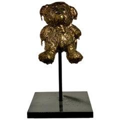 Gold Sculptural Bronze Teddy Bear, 21st Century by Mattia Biagi