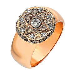 Gold Shold 6.48gm 8 Carat Gold, 0.57 Carat Brilliant Cut Diamonds