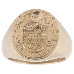 Gold Signet Family Crest Ring