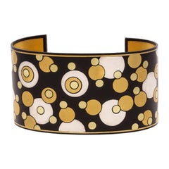 Angela Cummings for Tiffany Gold, Silver & Iron 'Bubble' Cuff Bangle