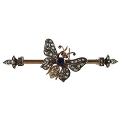 Gold, Silver, Ruby, Sapphire, and Diamond Butterfly Brooch, circa 1895