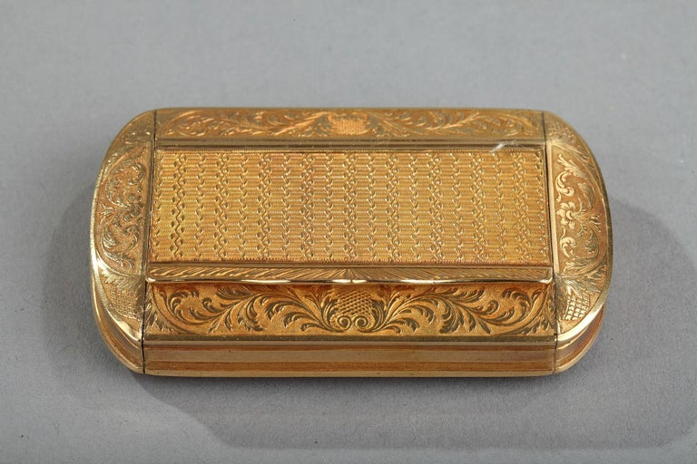 Gold Snuff Box, Restauration Period, circa 1820-1830 In Good Condition For Sale In Paris, FR