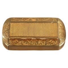 Gold Snuff Box, Restauration Period, circa 1820-1830